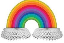 Rainbow party! / Colorful rainbow theme party ideas