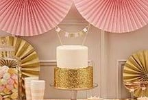 Pink & Gold Party Ideas! / Pink and gold party!