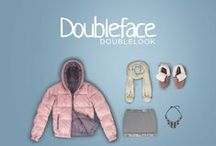 Doubleface Double Look / One down jacket, two styles. Doubleface down jackets remix the active world, paired with a total reversible look.
