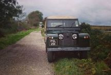 Escaped Land Rover Series / Old Series 1, 2 & 3 Land Rover going to nowhere.