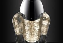 RAF Cluster Bomb - Drinks Cabinet / AIRCRAFT PART: R.A.F. MK1 PRACTICE CLUSTER BOMB Standing more than eight feet tall and weighing 600 pounds, the mirror-polished Cluster Bomb Drinks Cabinet is a truly unique piece of furniture.