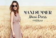 Maxi Summer, Maxi Dress! / It's maxi dress mania! Gli abiti lunghi e leggeri per vestire l'estate che sta arrivando! Shop now: www.motivi.com/shoponline