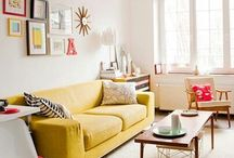 my someday home / yellow couches and other brights colors, with a minimalist, midcentury twist / by Kieren