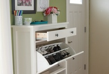 Home Organization / Great ideas for home organization. A clever use of space can free up a lot of room. Organization can be beautiful. / by Lori Thayer