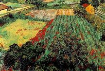 Vincent VAN GOGH -- My Favorite Artist / Vincent Van Gogh (1853 - 1890) was a Dutch post-Impressionist.  His work – know for its rough beauty & bold color, had huge impact on 20th-century art.  But, at the time of his death, it was only known to only a few & appreciated by far less.  After much mental illness, he died at 37 from a gunshot wound, thought to be self-inflicted but no gun was ever found.  He did not begin painting until his late 20s & did not complete many of his best-known works the last two years of his life. / by Nan Martin Barnum