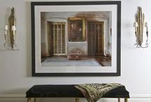 Art in Monochromatic Spaces / Use a large piece of art to create a focal point within a monochromatic color scheme.