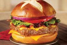 Hamburger, hot-dog, sandwich