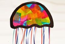 Art for the kids / Spruce up any kids rooms with these cool art ideas