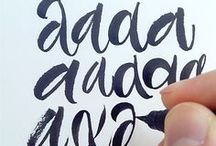 calligraphy / lettering / type