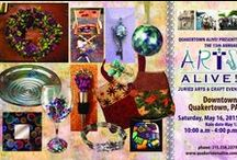 Arts Alive! 2015 / May 16, 2015, 10 am - 4 pm:  a free festival of artists, crafters, jewelers, musicians, food vendors, activities, and so much more! We are now accepting applications from artists and crafters who would like to be entered into our juried craft show. Need more information? You can reach us at 215-536-2273 or michele@quakertownalive.com.