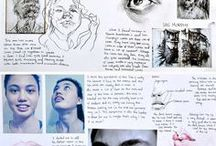 Art GCSE Sketchbooks