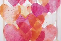 Paper Valentine's Day Decorations / Paper hearts, paper banners, paper love!