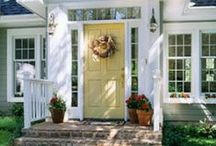 Stunning Front Doors / Beautiful paint and design for front doors and entryways
