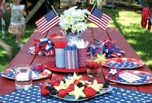 4th of July / 4th of July decor, DIY crafts, tips, and party ideas. Help your decor with red, white and blue paint or wallpaper. #CelebrateWithPaint