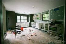 DIY Kitchen Renovation / DIY modern kitchen renovation in a 1980 Contemporary cedar sided house.