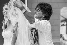 Bianca Balti 2015 - backstage / Alessandro Angelozzi Couture Wedding Dress 2015. Testimonial: Bianca Balti. Photographer: Fabrizio Ferri