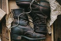 Fashion: Boots Junky / RED WING SHOES,WESCO,WHITE'S BOOTS,Viberg,Chippewa,ALDEN,Tricker's,MOTO,L.L.Bean,Clarks / by haganey