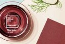 Marsala - Pantone's 2015 Color of the Year / Design tips and tricks to using Pantone's 2015 Color of the Year, Marsala, in your home and office spaces.