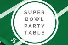 Super Bowl Party / Design and decor tips and tricks to help you celebrate the Super Bowl! #superbowl