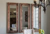 Impressive Mirrors / How to decorate with mirrors in your home or office, including #DIY tips and ideas on how to refinish a mirror with paint or stain.