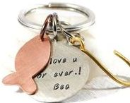 Keychains / Custom hand stamped keychains with your own message. Make a unique gift to your loved ones or to yourself. Personalized keyrings with positive meaning. Inspirational and meaningful gifts for any occasion.