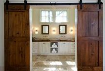Barn Door Dividers / How to, tips, tricks and ideas for DIY barn doors