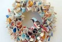 Paper Wreaths / Wreaths for all seasons with paper accents