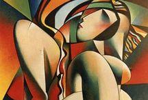 Abstrakt/kubisme / Malerier