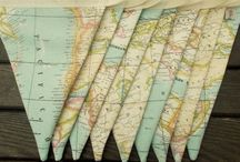 Decorating with Maps / Ideas for using paper maps in your home decor. Find the perfect DIY gift idea for your favorite traveler !