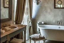 The Private Space / Bathroom inspirations, French, neutral, natural, calm & refreshing.