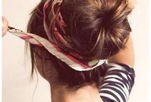 Coiffures / Différentes coiffures sur cheveux longs : chignons tressses