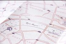 .:.  T h i s w a y p l e a s e  !  .:. / Paper maps (illustration) for big events | designed by Allons-y Alonso