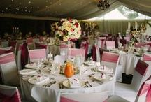 Wedding décor / Venue décor and marquee styling - all images are photos of our work.