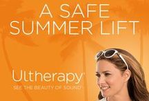 Ultherapy / Ultherapy is a new type of non-surgical, non-invasive procedure that uses ultrasound and the body's own natural healing process to lift, tone, and tighten loose skin on the brow, neck, and under the chin. The only FDA-approved procedure to lift skin on these hard-to-treat areas, Ultherapy uses the safe, time-tested energy of ultrasound to stimulate the deep structural support layers of the skin without disturbing the surface of the skin.