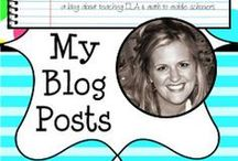 """My Blog - Musings from the Middle School / Posts from blog, """"Musings from the Middle School"""" where I write all about teaching math and ELA to upper elementary/middle schoolers!"""