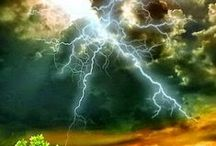 Stormy weather / storm, lightning, clouds .....