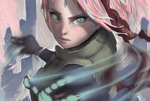 Haruno Sakura / Naive and emotional. I can't love her but I like her.