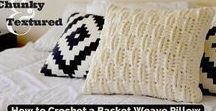 Easy Crochet Projects / Easy chunky crochet projects and tutorials for home decorations.