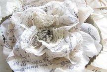 ** fleurs tissu **