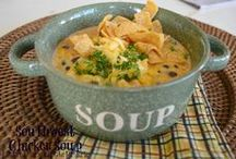 ♥Soup or Salad?♥ / Why choose? Make both.  I love soup.  And I love salad.  So easy and so tasty.