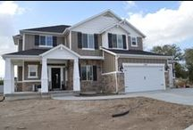Craftsman Cantata Plan / This beautiful craftsman home is a 2497 sq. ft. 2 story. The cantata plan offers an open layout, excellent for entertaining. The homeowners picked some unique interior features including some cool light fixtures! Contact Symphony Homes for more information on building a home designed to fit your needs 801-298-8555