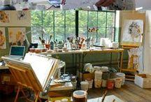 Artist material & Studio / Ateliers d'artistes peintres et outils/matériels d'artistes