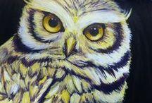 Omia maalauksia / Tekemiäni maalauksiani.