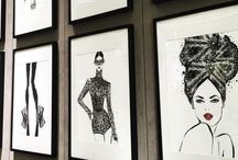 Illustration Wall Art / Decorate your wall with Fashion illustration and you 'll never be bored again