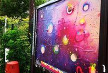 "Street Art & Cynthia's vitamins / Projet ""Vitamines"". Mes collages et graffitis dans les rues, France. Créations signées C."