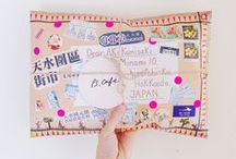 calligraphy & mail art.