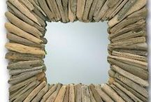 Mirror Mirror On The Wall / DIY mirrors from driftwood, old jewellery, beads...