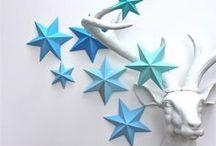 Stars / Handmade stars: crochet, paper, fabric