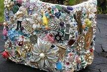 Bejewelled / Items decorated with vintage jewellery.