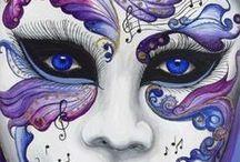 Planet Mask / Le più belle ed ammalianti maskere di carnevale.Gli occhi che vivificano il mistero nascosto delle maskere è il tema di questa raccolta.